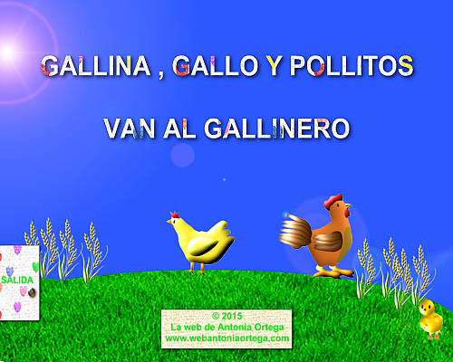 Juego PC Gallina, Gallo y Pollitos van al gallinero
